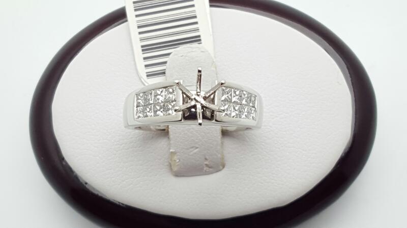 Lady's Platinum-Diamond Wedding Band 14 Diamonds .84 Carat T.W. 950 Platinum 9.4