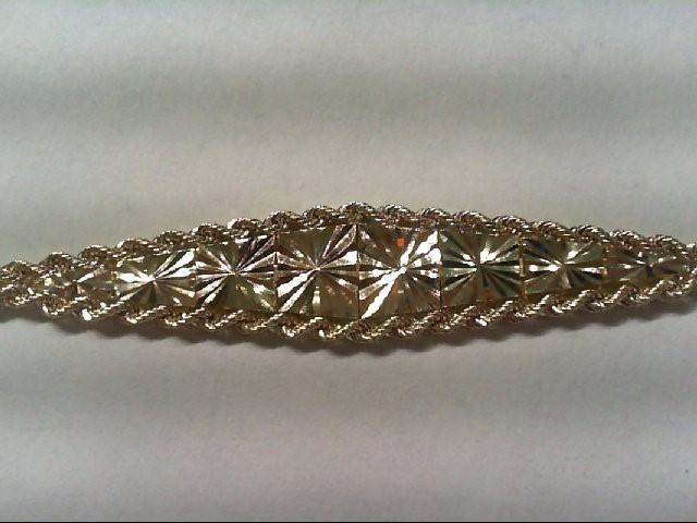 Gold Bracelet 10K Yellow Gold 3.4g