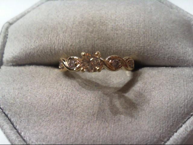 Lady's Diamond Engagement Ring 5 Diamonds .30 Carat T.W. 14K Yellow Gold 2.7g