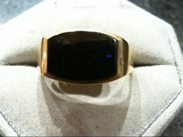 Onyx Gent's Stone Ring 14K Yellow Gold 7.4g
