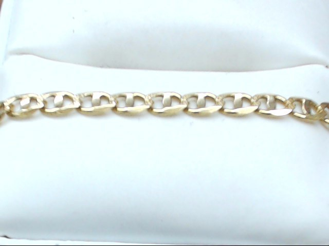 "22"" Gold Anchor Chain 14K Yellow Gold 9.5g"