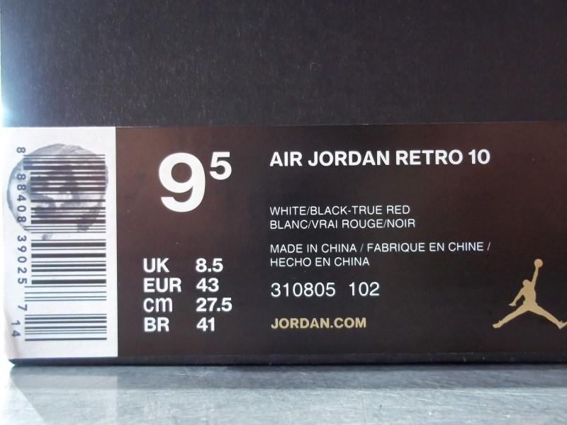 NIKE AIR JORDAN RETRO 10 SIZE 9.5