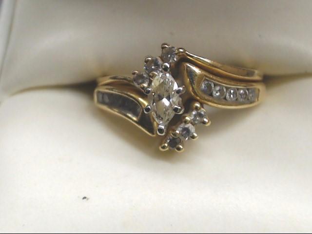 Lady's Diamond Wedding Set 17 Diamonds .68 Carat T.W. 14K Yellow Gold 5.2g