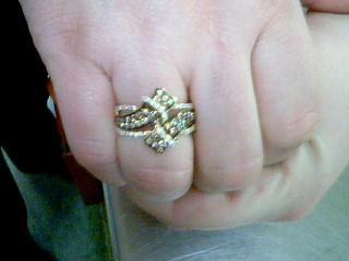 Lady's Diamond Fashion Ring 38 Diamonds 1.14 Carat T.W. 14K Yellow Gold 5.3g