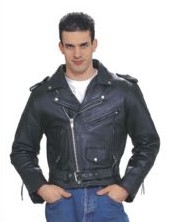 CYCLE-LEATHERS DEALER LEATHER MJ201-09-B 54; MENS MC JACKET WITH Z/O LINING