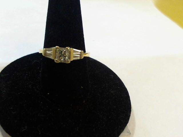 Lady's Diamond Fashion Ring 5 Diamonds .63 Carat T.W. 14K Yellow Gold 3.1g