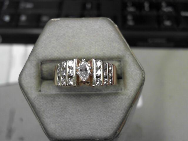 Lady's Diamond Fashion Ring 19 Diamonds .92 Carat T.W. 14K Yellow Gold 5.7g