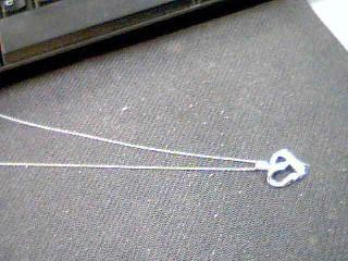 Diamond Necklace 8 Diamonds .24 Carat T.W. 10K White Gold 2.4g