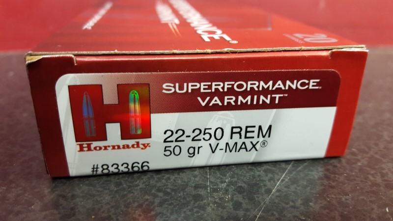 HORNADY 22-250 50GR V-MAX #83366