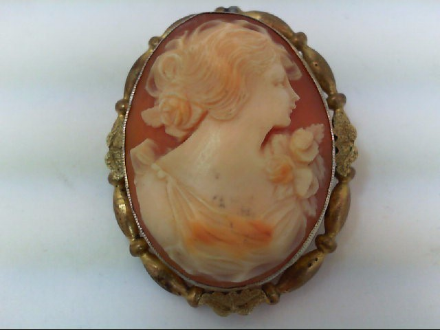 Gold Brooch Yellow Gold Filled 9.8g