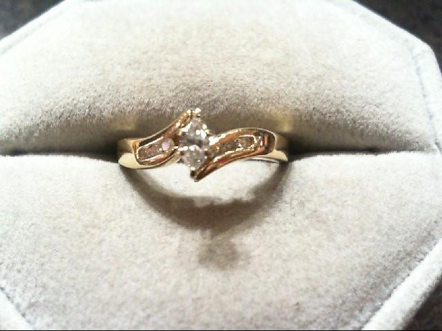 Lady's Diamond Engagement Ring 7 Diamonds .28 Carat T.W. 14K Yellow Gold 2.3g