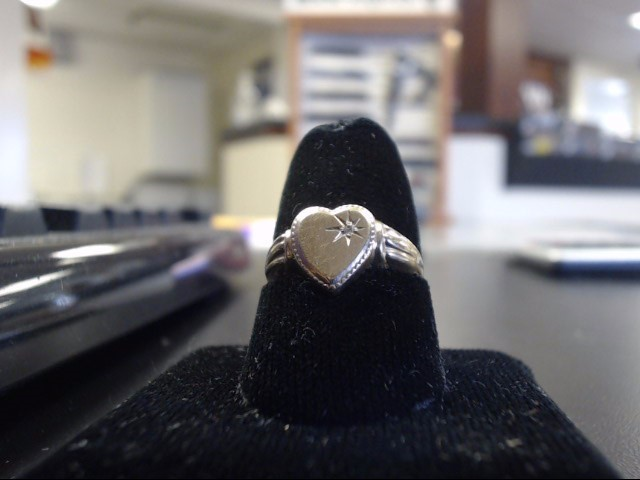 Lady's Diamond Fashion Ring 0.01 CT. 10K Yellow Gold 1.24g Size:7
