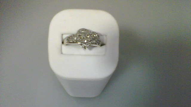 Lady's Silver-Diamond Ring 60 Diamonds .60 Carat T.W. 925 Silver 2.78g