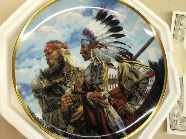 "FRANKLIN MINT PLATE ""In the Begining...Friends"""