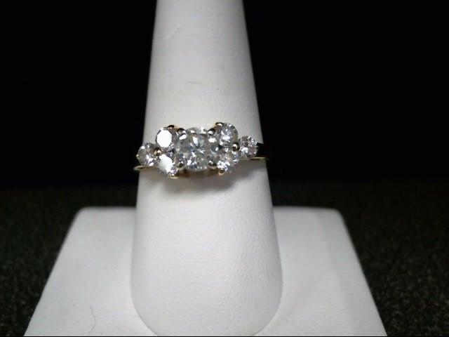 Lady's Diamond Cluster Ring 7 Diamonds 1.22 Carat T.W. 14K Yellow Gold 3.7g