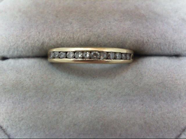 Lady's Diamond Wedding Band 12 Diamonds .24 Carat T.W. 10K Yellow Gold 1.6g