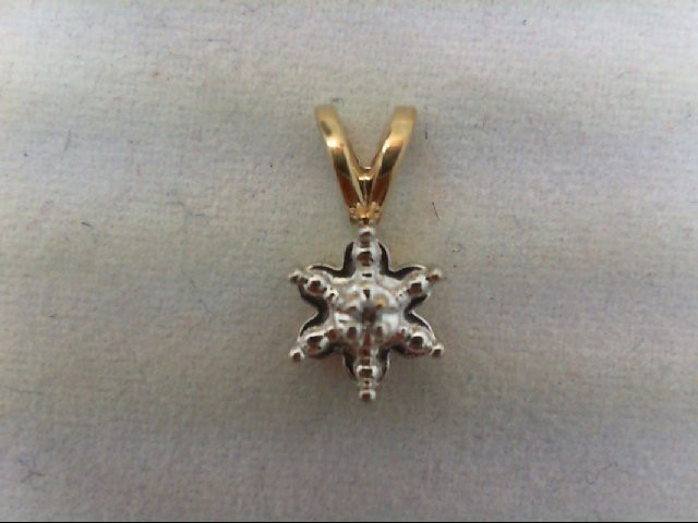 Gold-Diamond Solitaire Pendant .01 CT. 10K Yellow Gold 0.7g