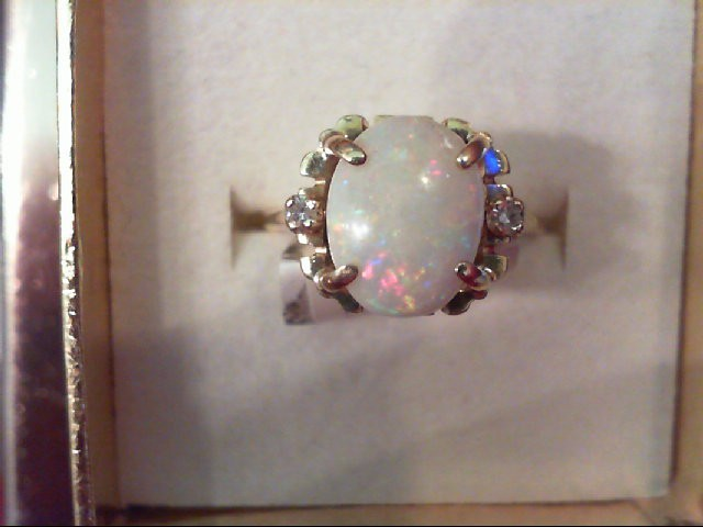 Opal Lady's Stone Ring 14K Yellow Gold 3.3g