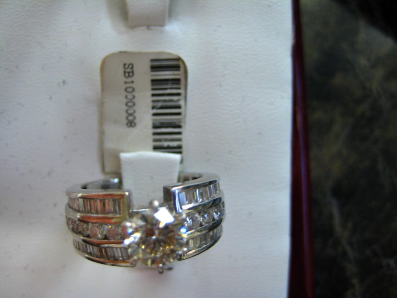 Lady's Diamond Engagement Ring 0.01 CT. 14K White Gold 1g