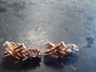 Gold Earrings 10K Yellow Gold 2.2dwt