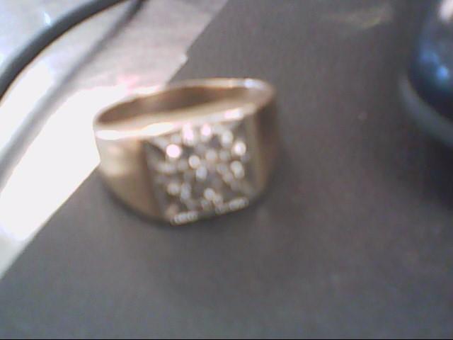 Gent's Diamond Cluster Ring 7 Diamonds .07 Carat T.W. 10K Yellow Gold 5.3g