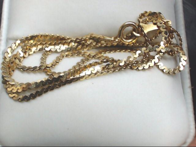 "19"" Gold Chain 14K Yellow Gold 3.2g"