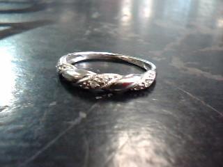 Lady's Diamond Fashion Ring 9 Diamonds .18 Carat T.W. 10K White Gold 1dwt