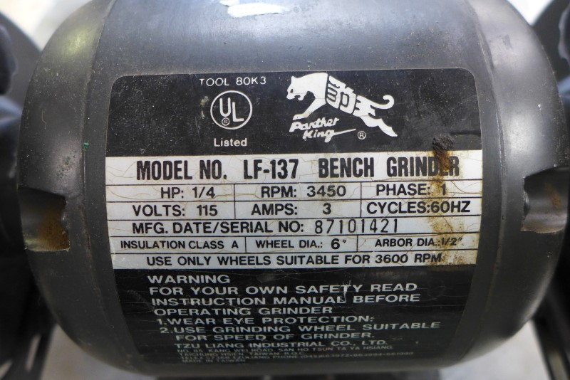 PANTHER KING BENCH GRINDER