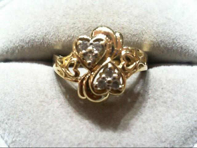 Lady's Diamond Fashion Ring 6 Diamonds .14 Carat T.W. 14K Yellow Gold 3.7g