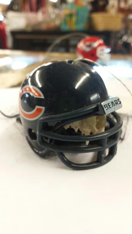 CHICAGO BEARS HAND MADE CREATURE W/ FOOTBALL TEAM HELMET