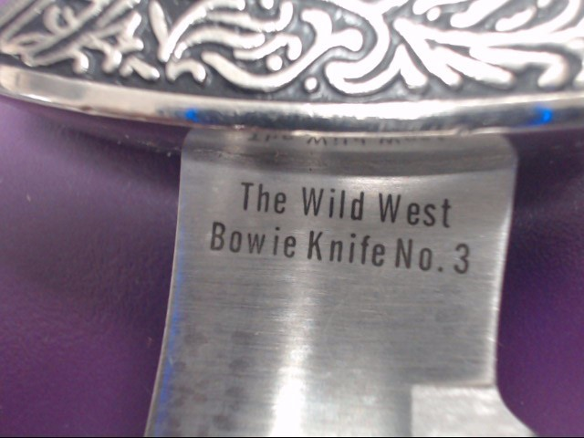 THE WILD WEST BOWIE KNIFE NO. 3 DAVY CROCKETT
