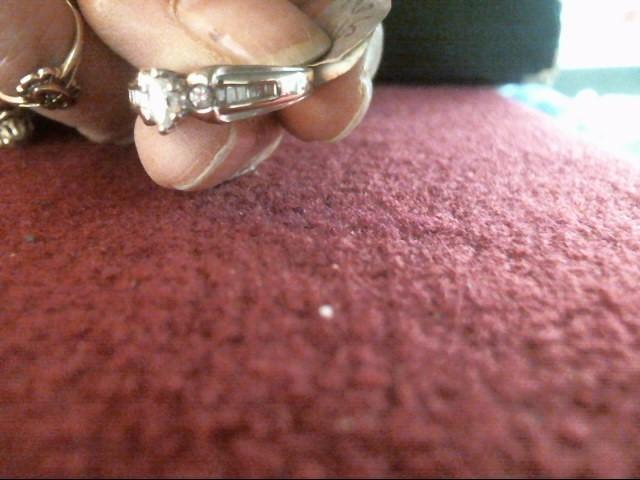 Lady's Diamond Solitaire Ring 15 Diamonds .40 Carat T.W. 14K White Gold 3.4dwt
