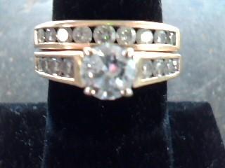 Lady's Diamond Wedding Set 18 Diamonds 1.74 Carat T.W. 14K Yellow Gold 5.2dwt