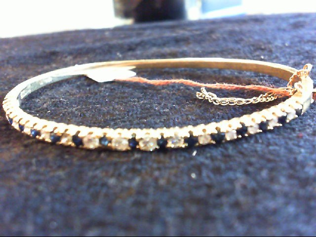 Sapphire Gold-Diamond & Stone Bracelet 15 Diamonds .30 Carat T.W.
