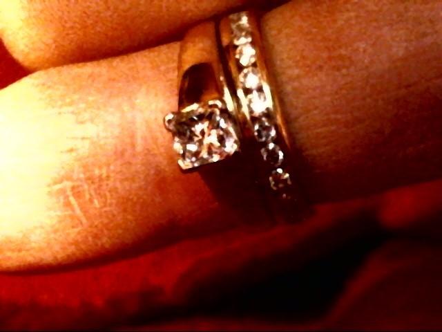 Lady's Diamond Wedding Set 13 Diamonds .86 Carat T.W. 14K Yellow Gold 4.4dwt