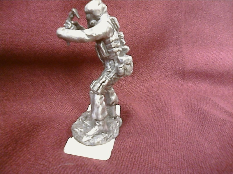 MISC COLLECTIBLES MISC USED MERCH MISC USED MERCH; PEWTER MODERN WARRIOR FIREARM
