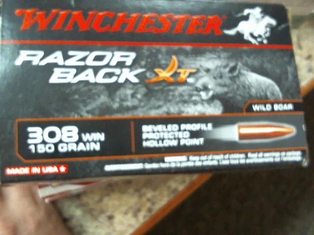 WINCHESTER Ammunition RAZOR BACK XT 308 150 GR