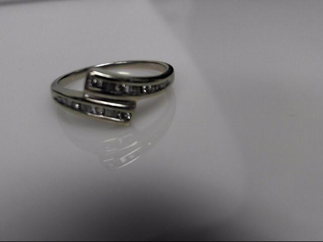 Lady's Diamond Cluster Ring 15 Diamonds .30 Carat T.W. 10K White Gold 1.77g