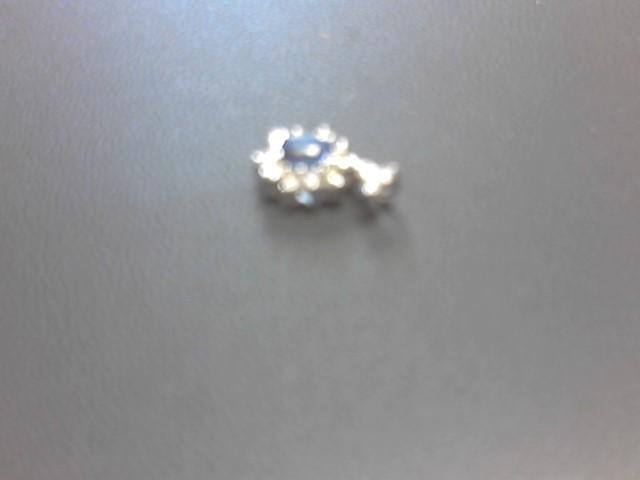 Sapphire Gold-Diamond & Stone Pendant 13 Diamonds .52 Carat T.W.