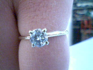 Lady's Diamond Solitaire Ring .50 CT. 14K Yellow Gold 1.7g