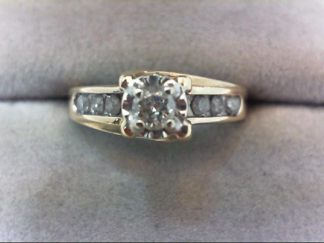 Lady's Diamond Engagement Ring 5 Diamonds .23 Carat T.W. 10K Yellow Gold 3.4g