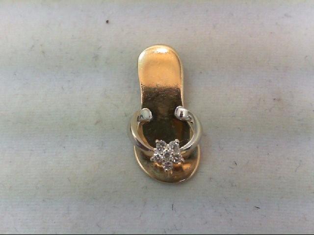 Gold-Multi-Diamond Pendant 6 Diamonds .12 Carat T.W. 14K Yellow Gold 2g