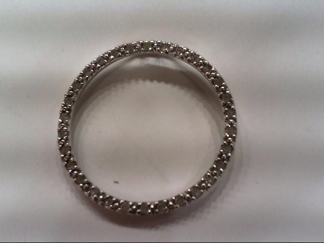 Gold-Multi-Diamond Pendant 22 Diamonds .44 Carat T.W. 10K White Gold 1.5g