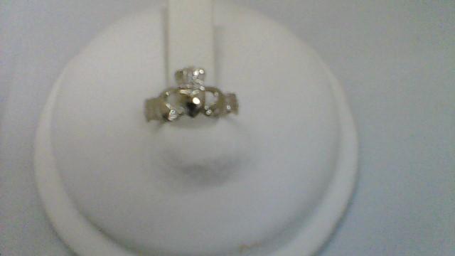 Lady's Gold Ring 14K White Gold 1.4g