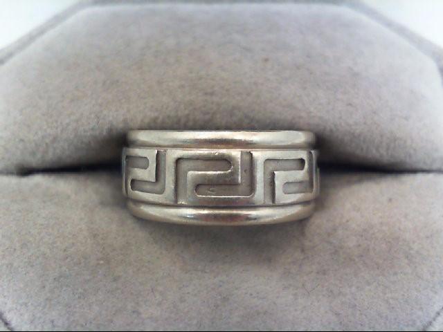Lady's Gold Ring 14K White Gold 9.2g Size:4.5
