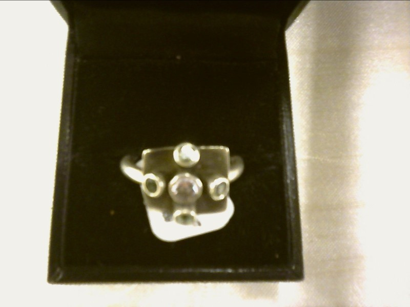 Blue Stone Lady's Silver & Stone Ring 925 Silver 3dwt