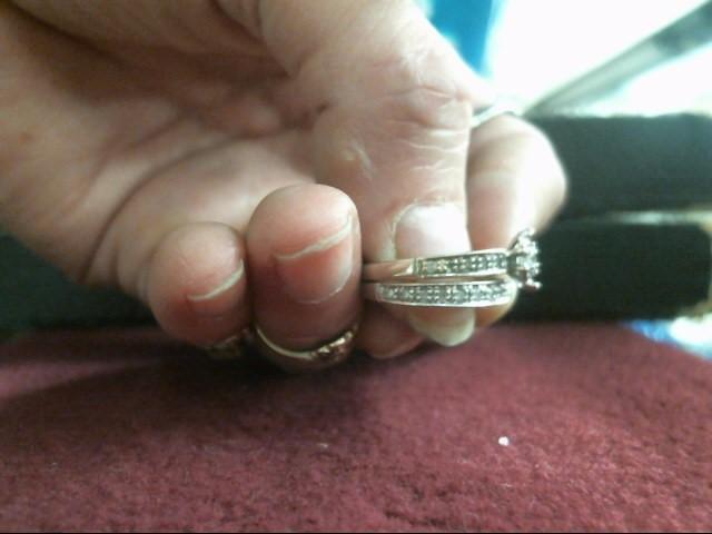 Lady's Diamond Wedding Set 22 Diamonds .155 Carat T.W. 10K White Gold 3.4dwt