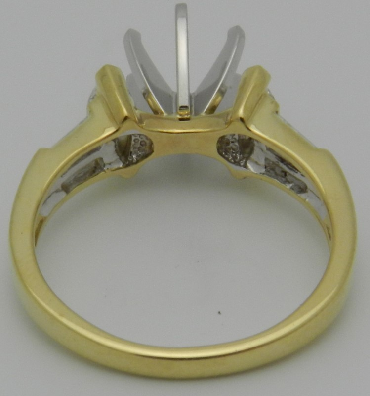 Lady's Diamond Engagement Ring 6 Diamonds .56 Carat T.W. 18K Yellow Gold 4.6g
