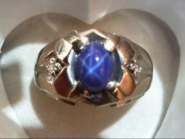 Gent's Diamond Fashion Ring 2 Diamonds 0.02 Carat T.W. 10K White Gold 5.8g