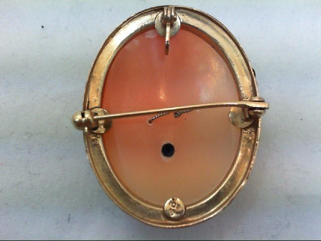 Gold-Diamond Brooch .02 CT. 10K Tri-color Gold 8.2g